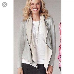 CAbi terry shawl full zip hoodie